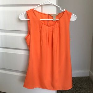 Banana Republic orange sleeveless blouse. Size S